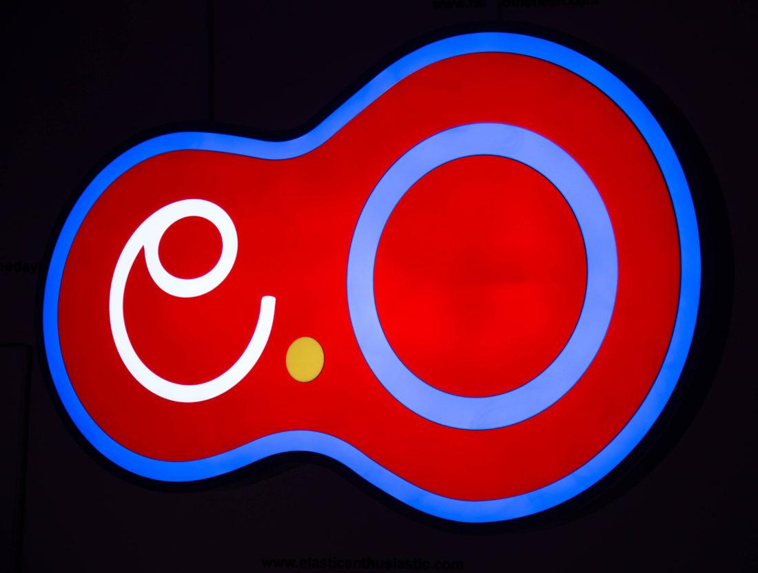 MILTOS MANETAS electronicOrphanage@siena: insegna luminosa di electronicOrphanage disegnata da Takaya Goto nel 1997 e rieditata per l'occasione dal Museo d'Inverno. Foto Cinzia Iovine